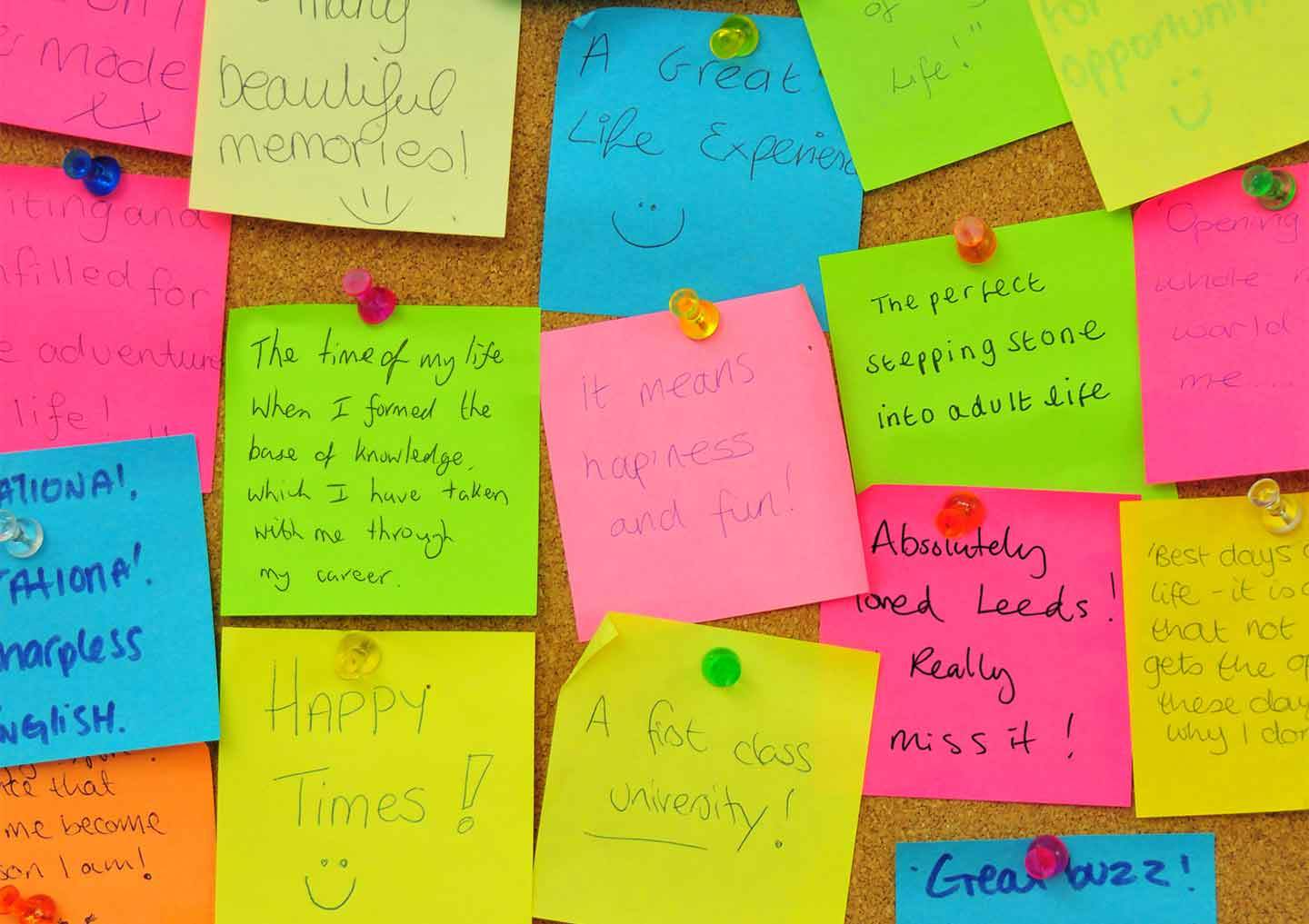 This wall of post-it notes inspired the campaign. We told prospects 'We're missing you'.