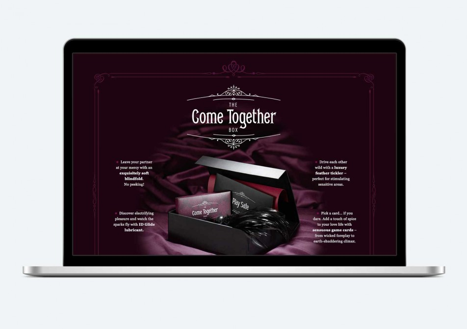 The Come Together website - box contents view